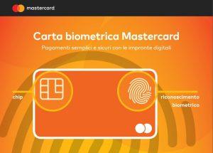 Mastercard, pagamenti sicuri con la biometria
